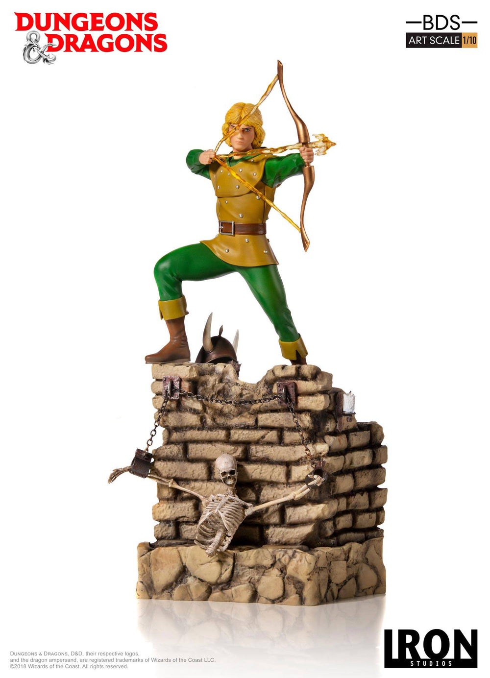 Iron Studios Dungeons & Dragons Hank the Ranger Battle Diorama Series 1/10 Statue