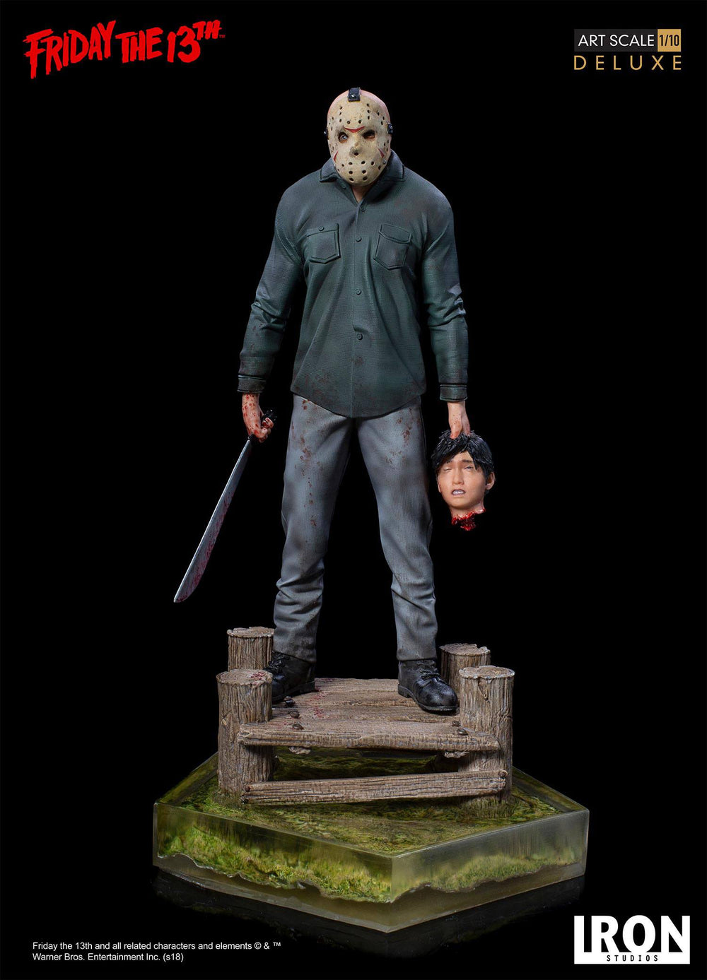 Iron Studios Friday the 13th Jason Deluxe Art Scale 1/10 Statue