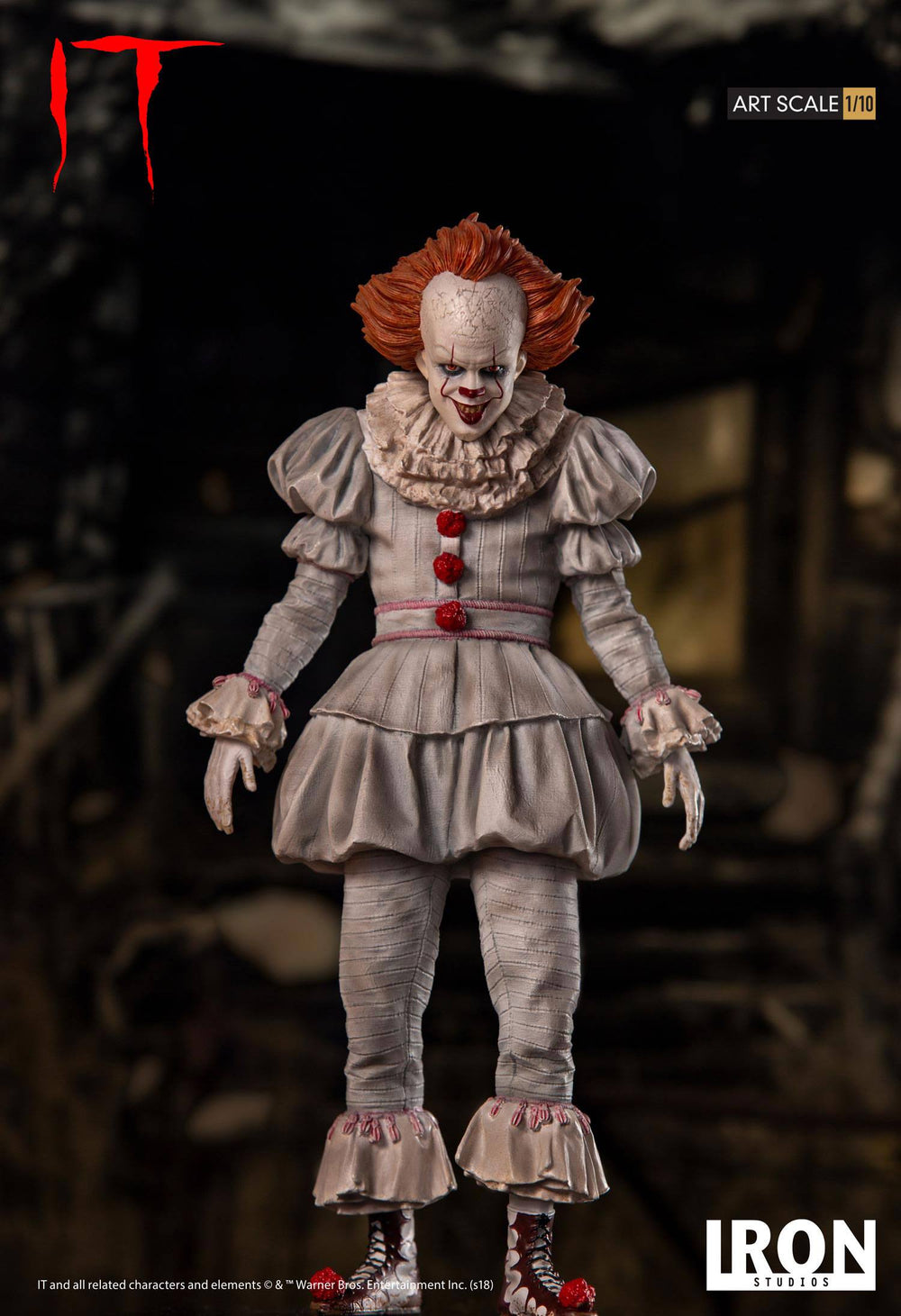 Iron Studios Stephen King's It Pennywise Art Scale 1/10 Statue