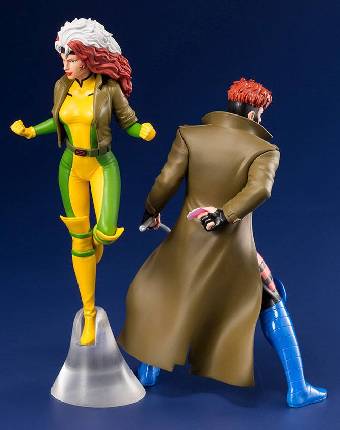 Kotobukiya Marvel X-Men TV Series Gambit & Rogue ARTFX+ 1/10 Statue 2 Pack