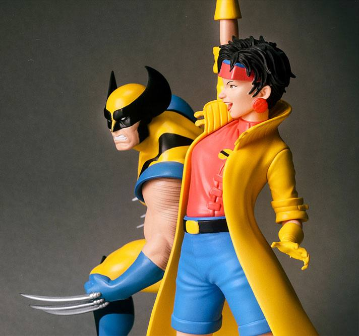 Kotobukiya Marvel X-Men TV Series Wolverine & Jubilee ARTFX+ 1/10 Statue 2 Pack