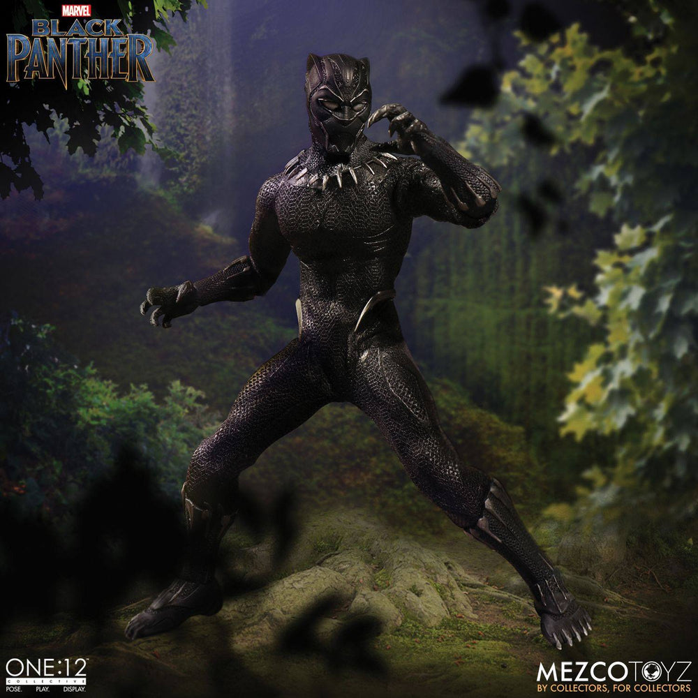 Mezco Toyz Marvel Universe Black Panther 1/12 Action Figure