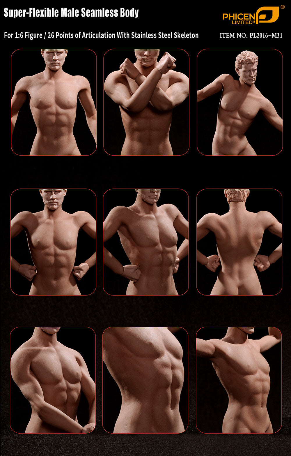 Phicen M31 Male Seamless 1/6 Body Action Figure