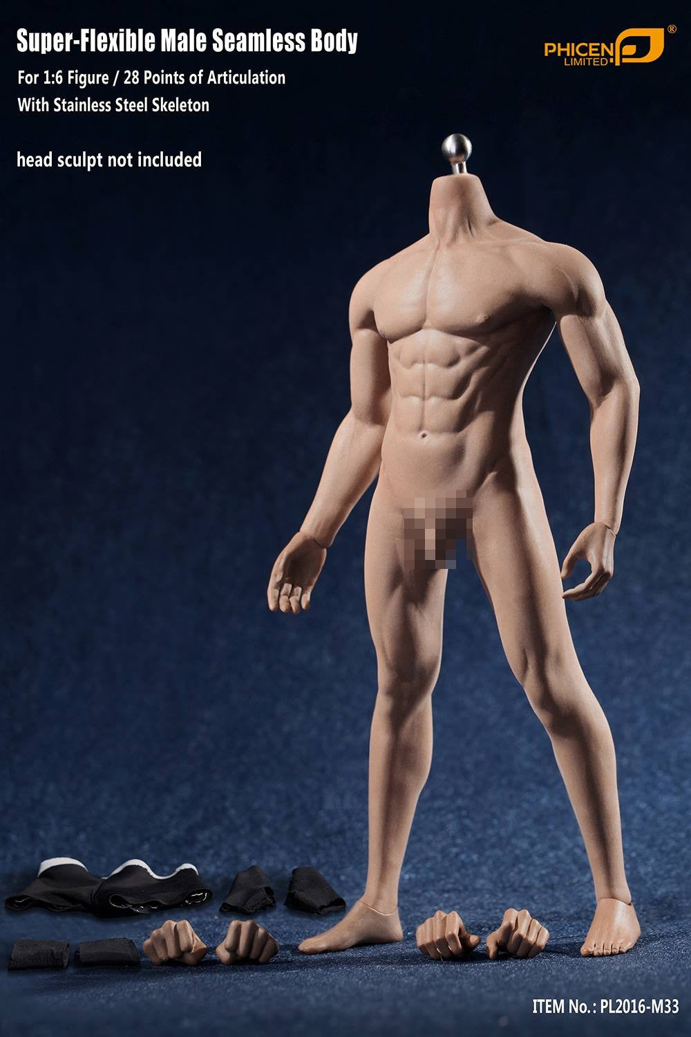 Phicen M33 Male Seamless 1/6 Body Action Figure - Movie Figures - 10