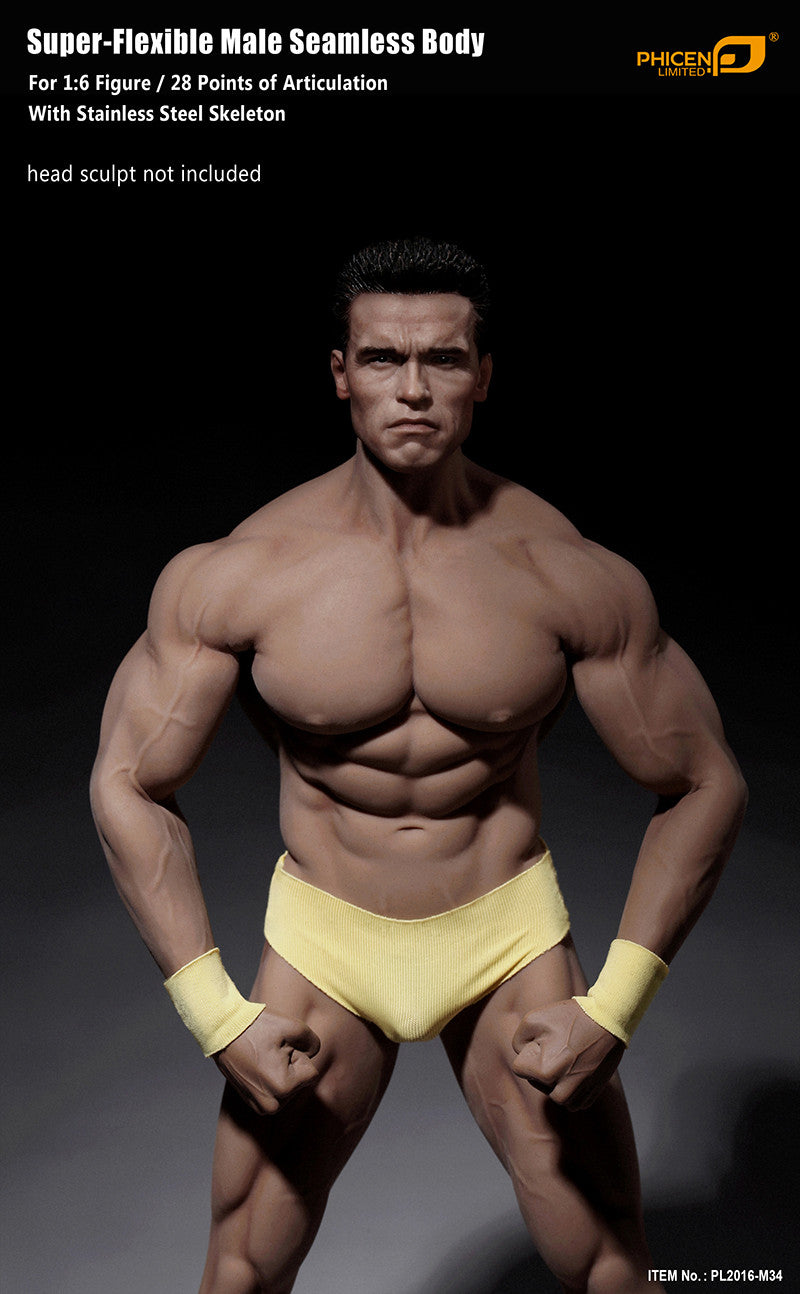 1//6 Scale Flexible Male Action Figure Body w// Accessories for Hot Toys Head