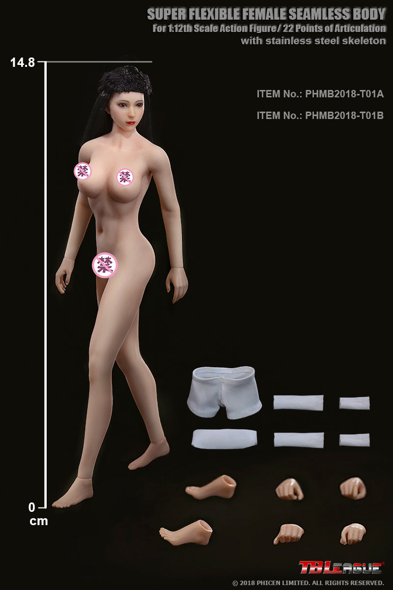Phicen PHMB2018-T01B Suntan, Medium Bust Female Seamless 1/12 Action Figure