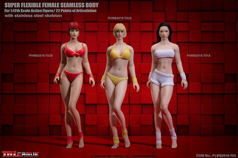 Phicen PHMB2019-T03A Pale, Medium Bust Female Seamless 1/12 Action Figure