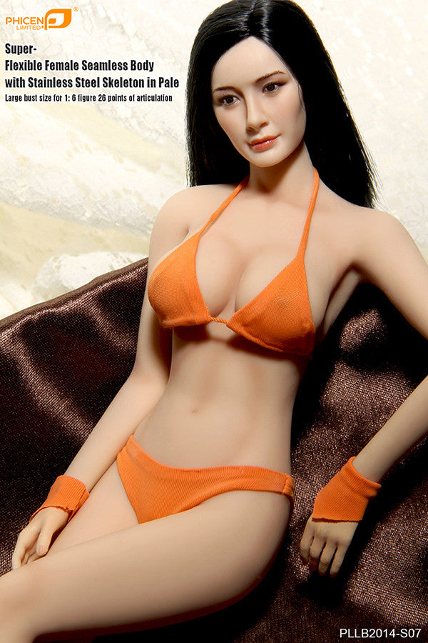 Phicen PLLB2014-S07 Pale, Large Breast Size Female Seamless 1/6 Action Figure - Movie Figures - 3