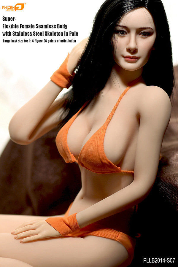 Phicen PLLB2014-S07 Pale, Large Breast Size Female Seamless 1/6 Action Figure - Movie Figures - 4