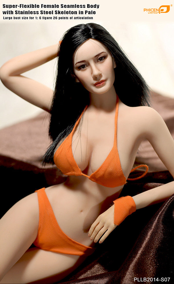 Phicen PLLB2014-S07 Pale, Large Breast Size Female Seamless 1/6 Action Figure - Movie Figures - 5
