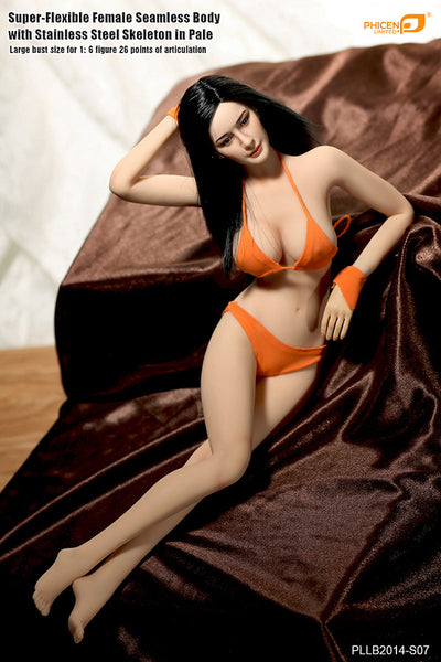 Phicen PLLB2014-S07 Pale, Large Breast Size Female Seamless 1/6 Action Figure - Movie Figures - 1