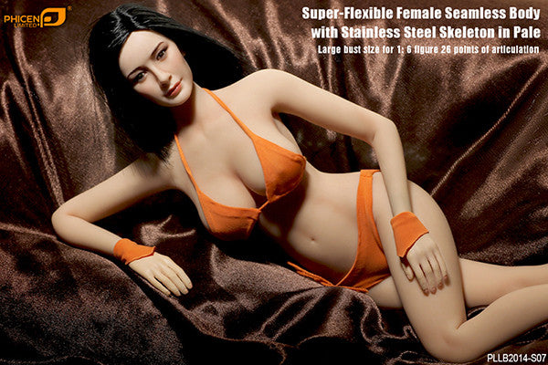 Phicen PLLB2014-S07 Pale, Large Breast Size Female Seamless 1/6 Action Figure - Movie Figures - 6