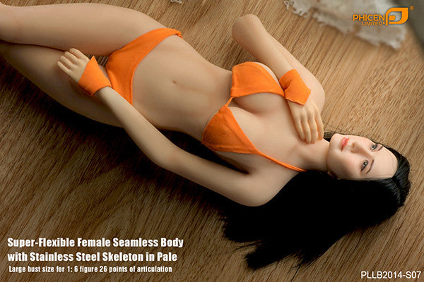 Phicen PLLB2014-S07 Pale, Large Breast Size Female Seamless 1/6 Action Figure - Movie Figures - 9