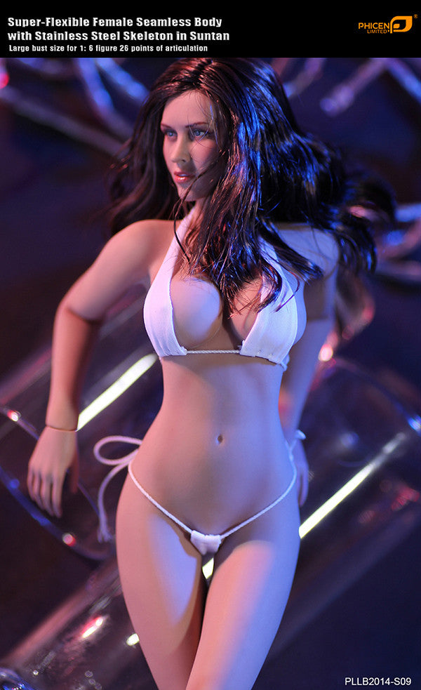 Phicen PLLB2014-S09 Sun Tan, Large Breast Size Female Seamless 1/6 Action Figure - Movie Figures - 1