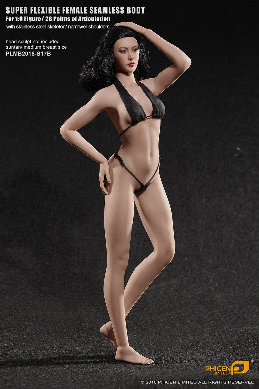Phicen S17B Suntan, Medium Breast Size Female With Removable Feet Seamless 1/6 Body Action Figure - Movie Figures - 1