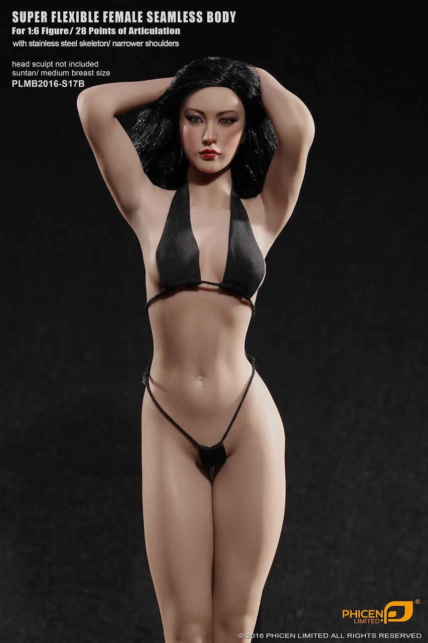 Phicen S17B Suntan, Medium Breast Size Female With Removable Feet Seamless 1/6 Body Action Figure - Movie Figures - 9