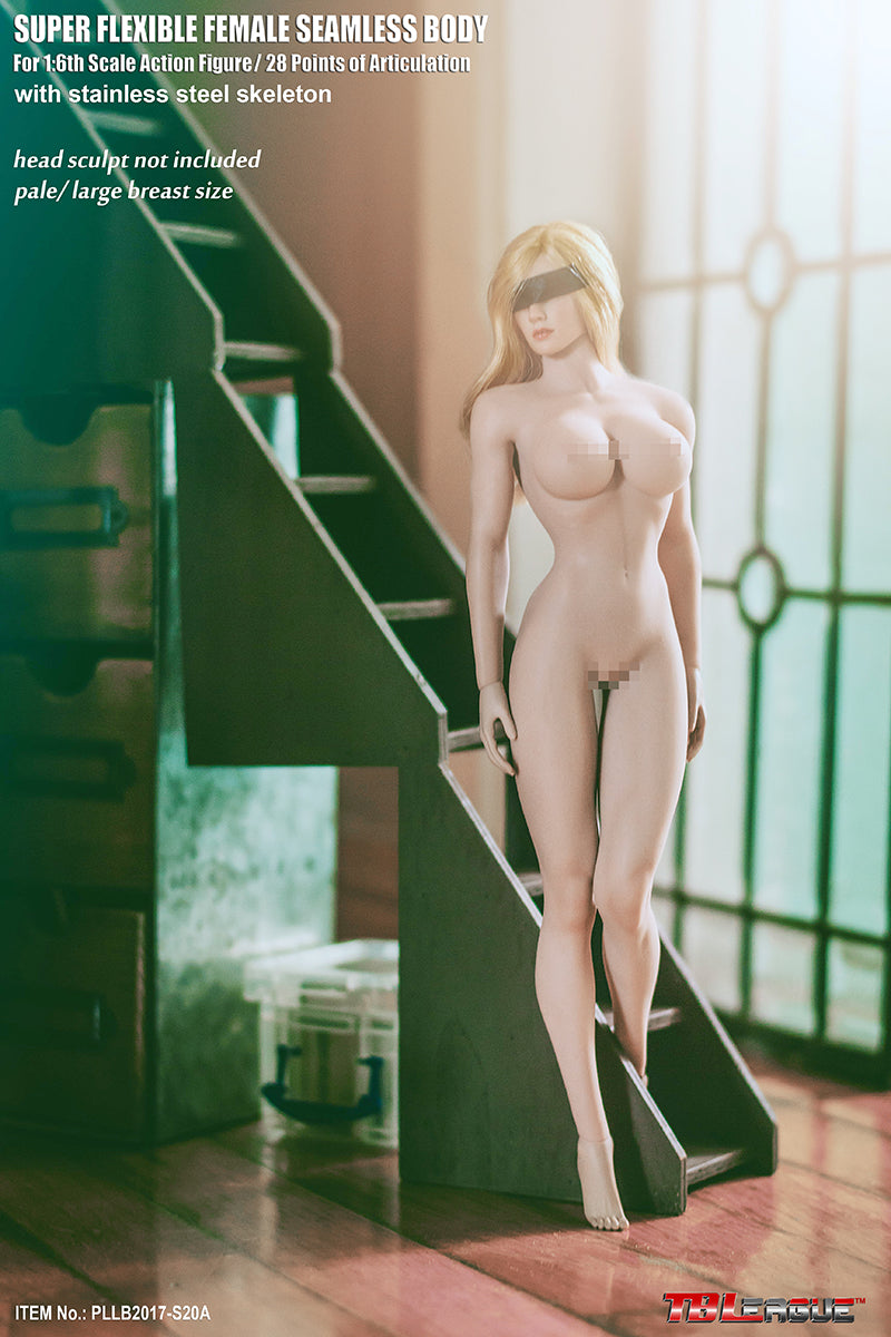 Phicen TBLeague PLMB2017-S20A Pale, Large Bust Female Seamless 1/6 Body Action Figure