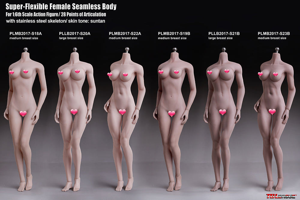 Phicen TBLeague PLMB2017-S21B Suntan, Large Bust Female Seamless 1/6 Body Action Figure