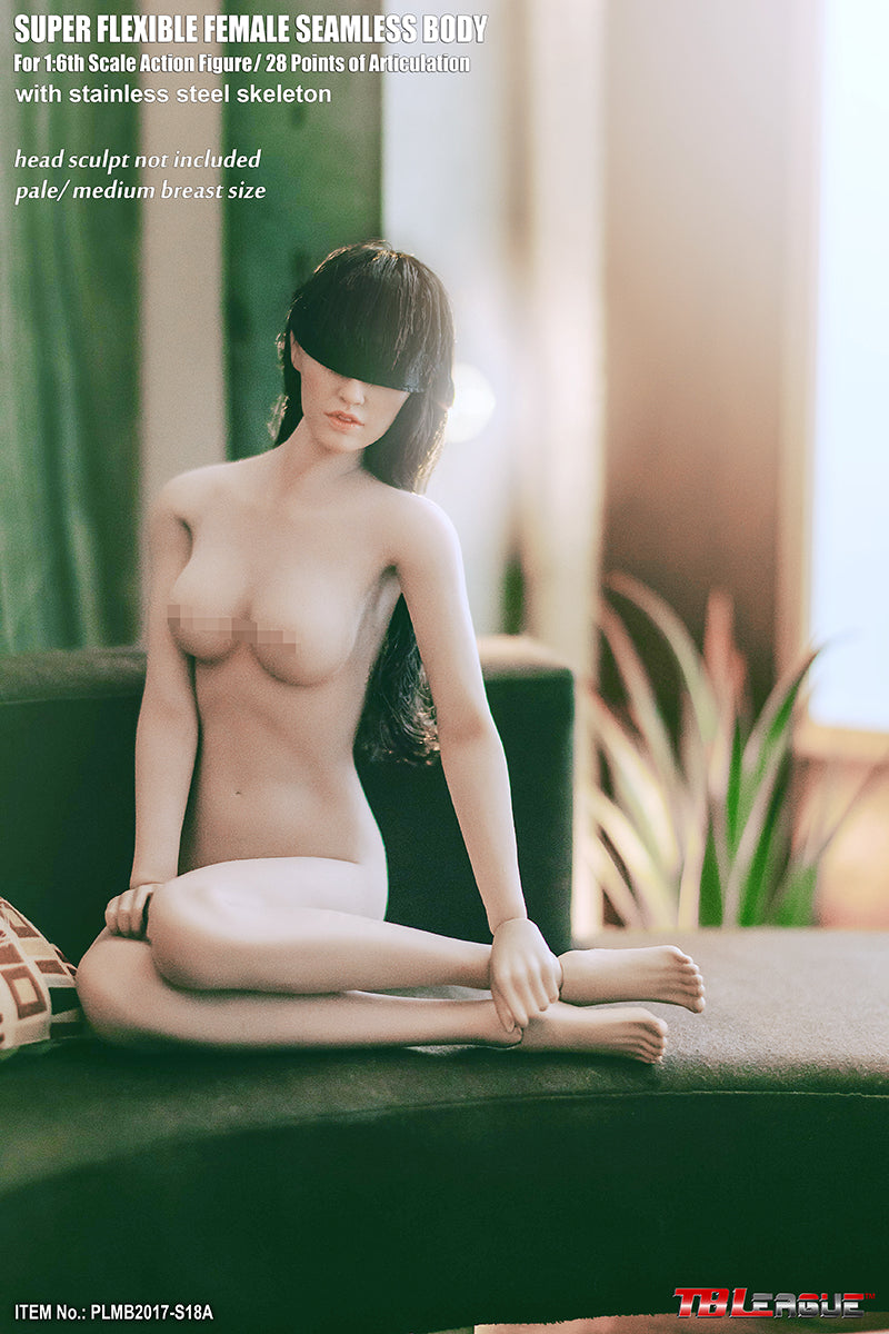 Phicen TBLeague PLMB2017-S18A Pale, Medium Bust Female Seamless 1/6 Body Action Figure