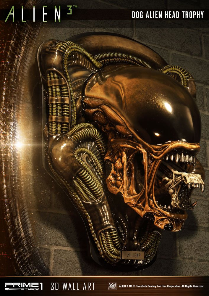 Prime 1 Studio Alien 3 Dog Alien Open Mouth Version 3D Wall Art Statue