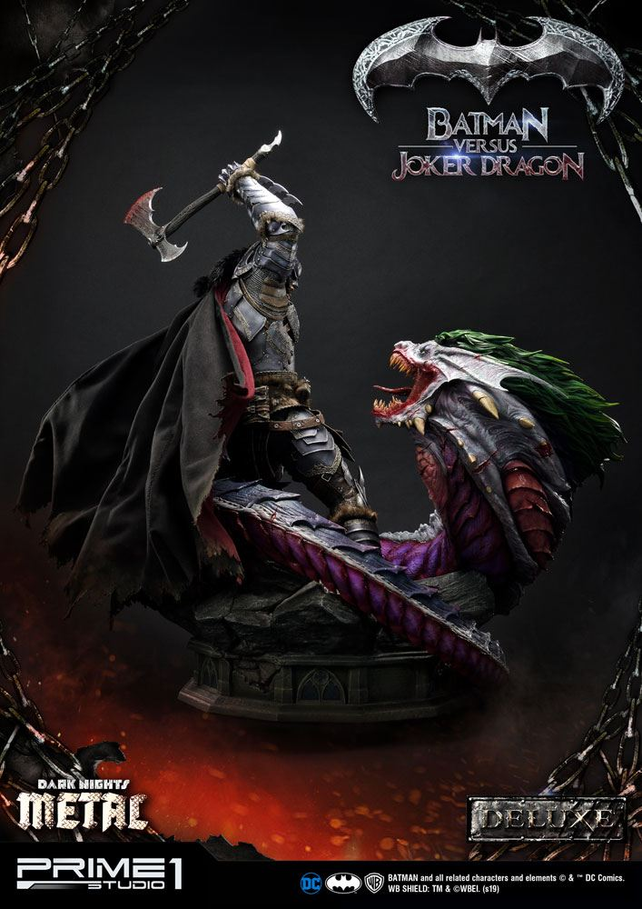 Prime 1 Studio DC Comics Dark Nights: Metal Batman Versus Joker Dragon Deluxe Version Statue