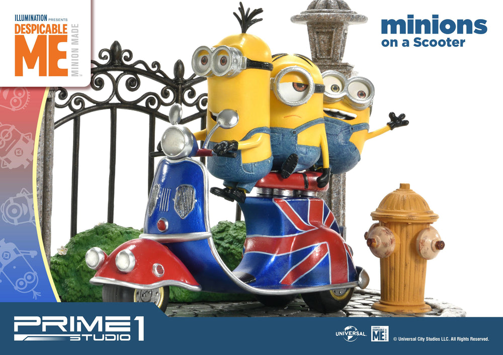 Prime 1 Studio Despicable Me Minions on a Scooter Statue