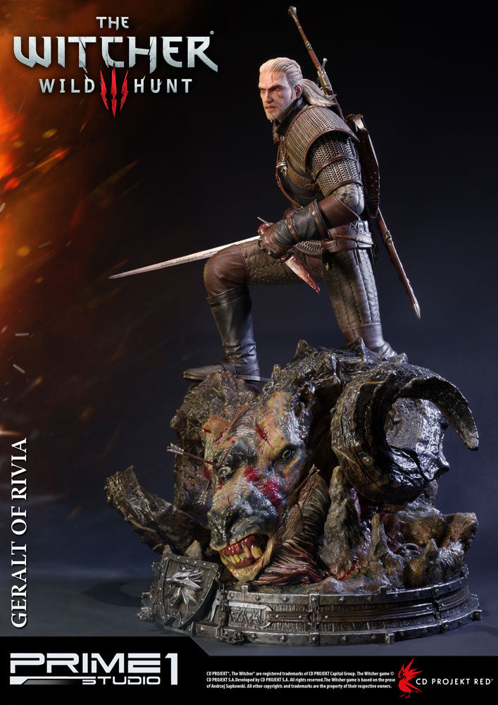 Prime 1 Studio Witcher 3 Wild Hunt Geralt of Rivia Statue