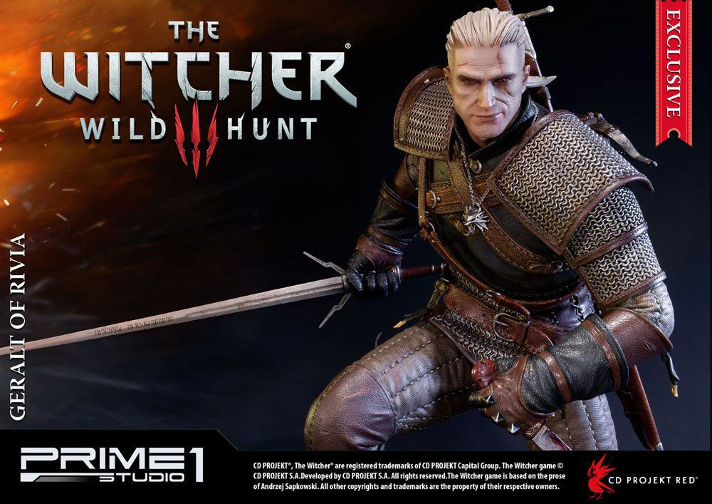 Prime 1 Studio Witcher 3 Wild Hunt Geralt of Rivia Exclusive Statue
