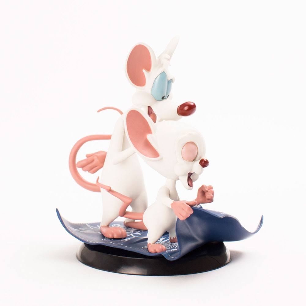 Quantum Mechanix Pinky and the Brain Taking Over The World Q-Fig Statue