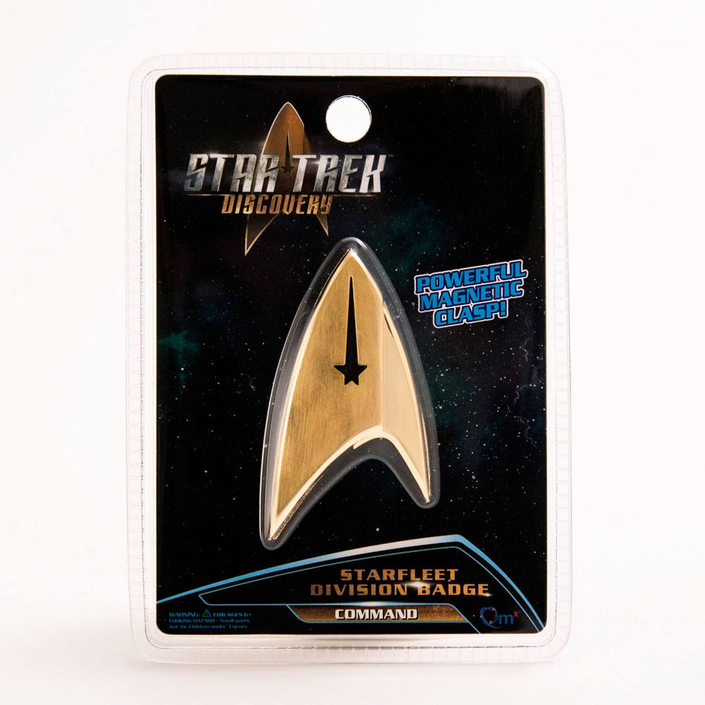 Quantum Mechanix Star Trek Discovery Starfleet Command Division Badge Prop Replica