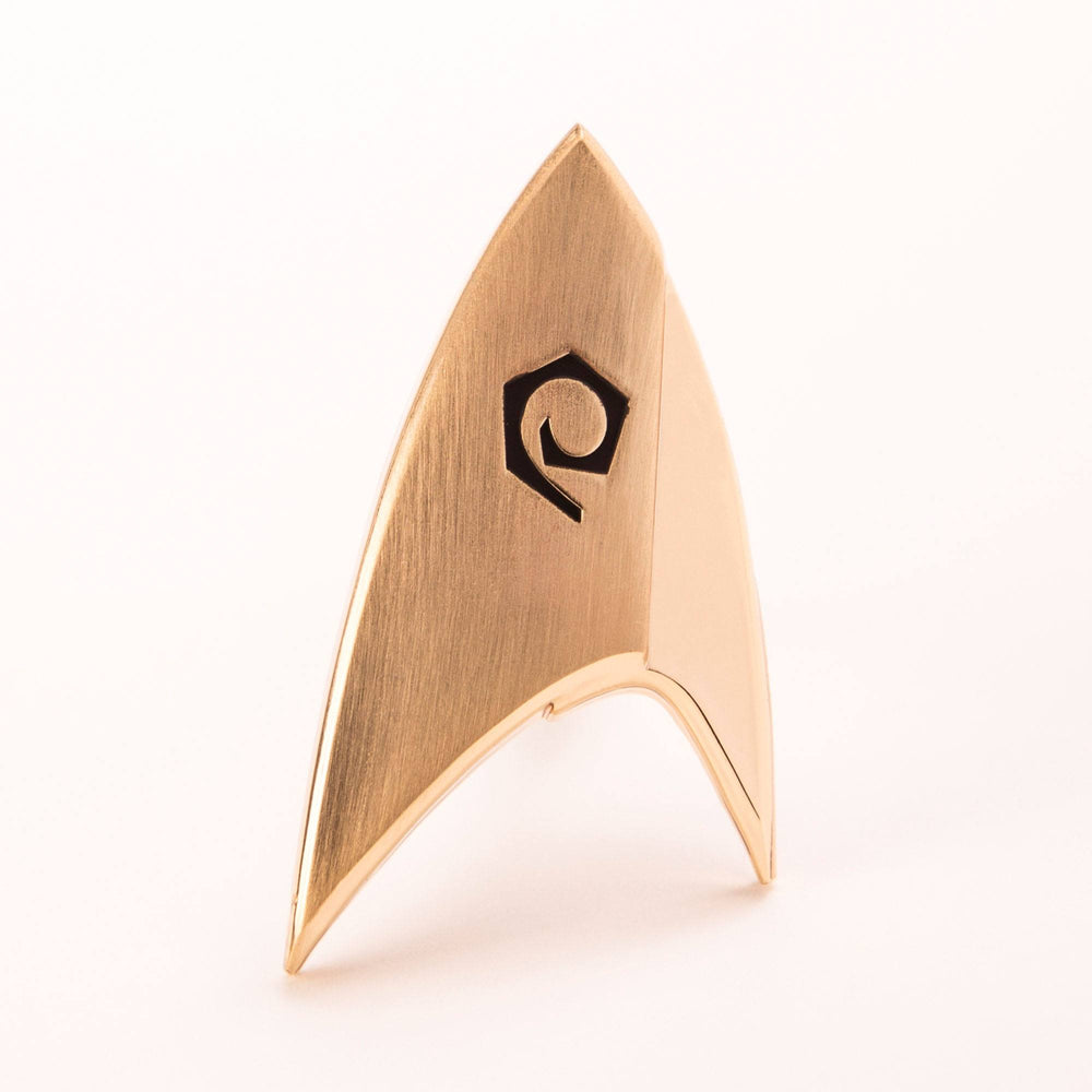 Quantum Mechanix Star Trek Discovery Starfleet Operations Division Badge Prop Replica