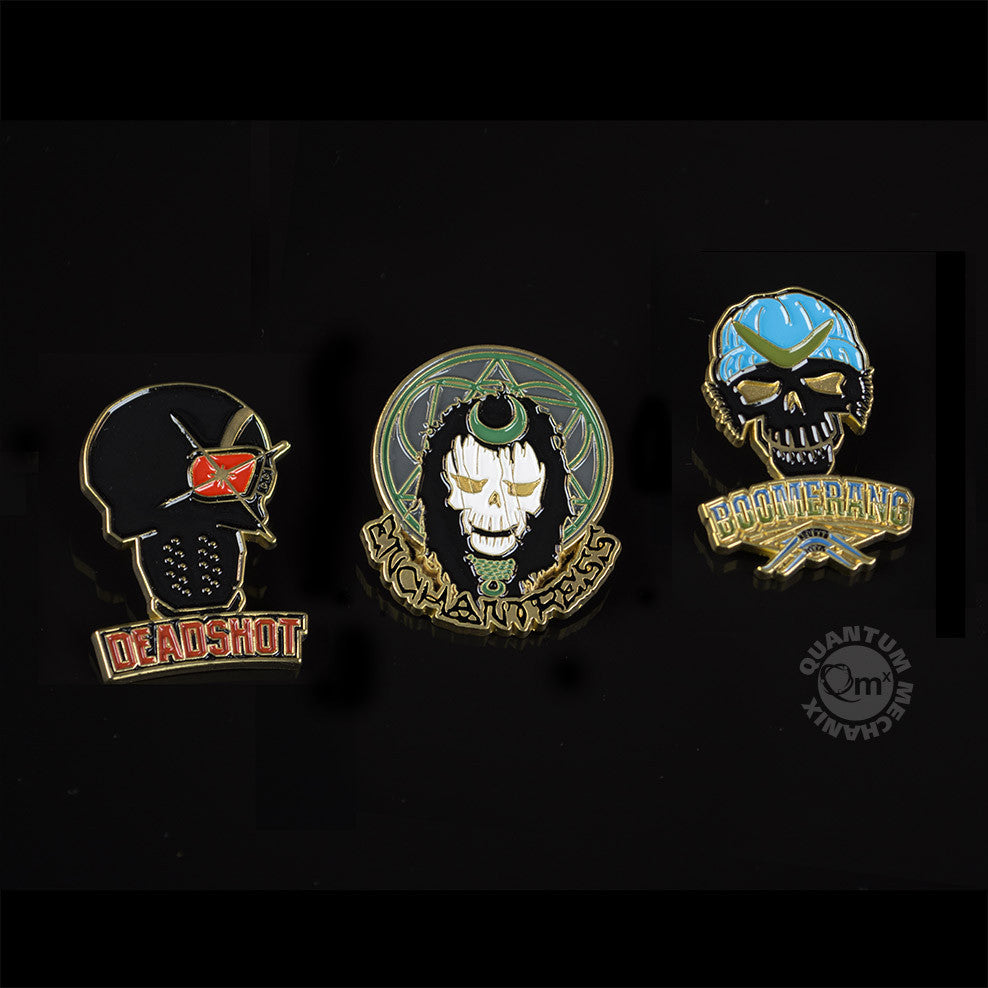 Quantum Mechanix Suicide Squad Lapel Pin Set 1 - Movie Figures - 1