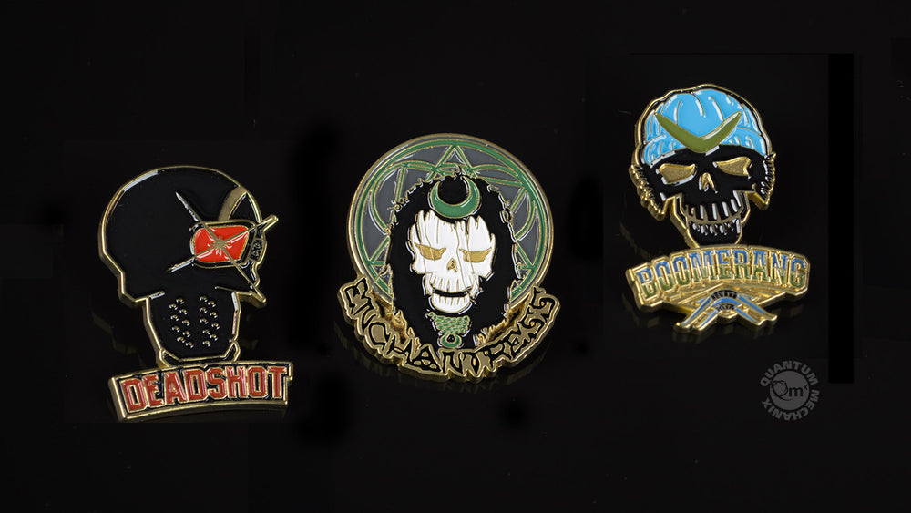 Quantum Mechanix Suicide Squad Lapel Pin Set 1 - Movie Figures - 2