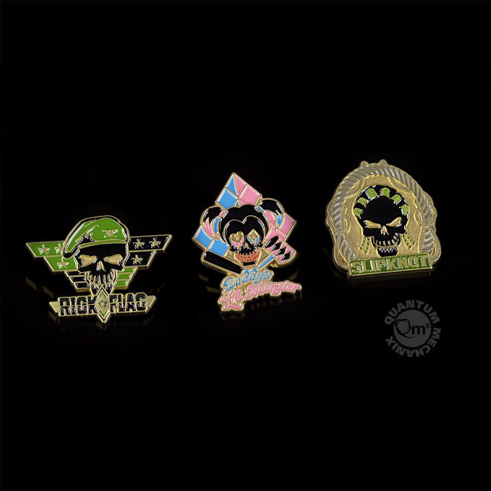 Quantum Mechanix Suicide Squad Lapel Pin Set 3 - Movie Figures - 1