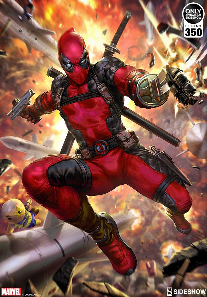 Sideshow Collectibles Marvel Deadpool: Heat-Seeker Art Print