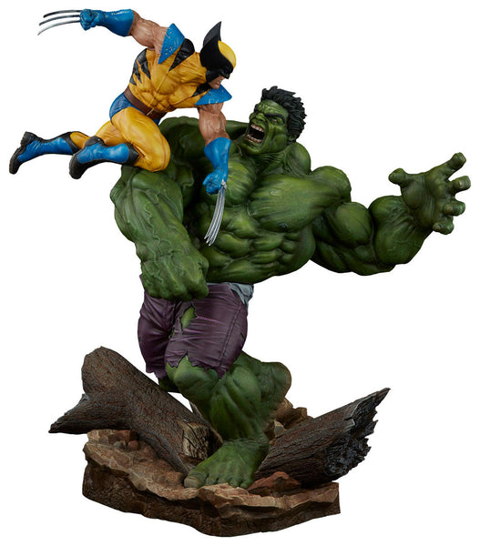 Sideshow Collectibles Marvel Hulk vs. Wolverine  Maquette Statue - Movie Figures - 1