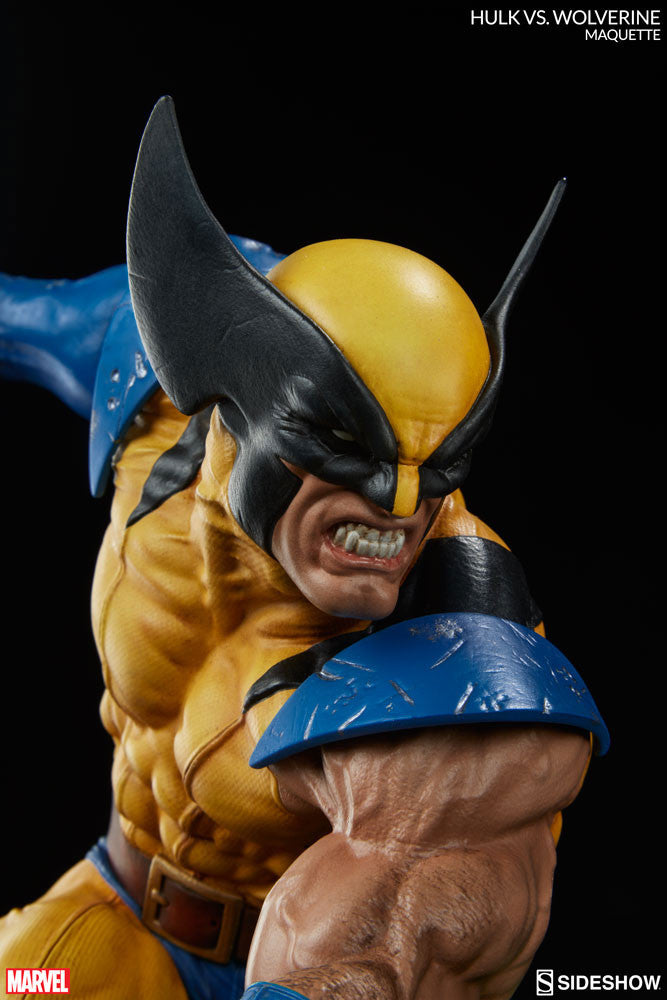 Sideshow Collectibles Marvel Hulk vs. Wolverine  Maquette Statue - Movie Figures - 11