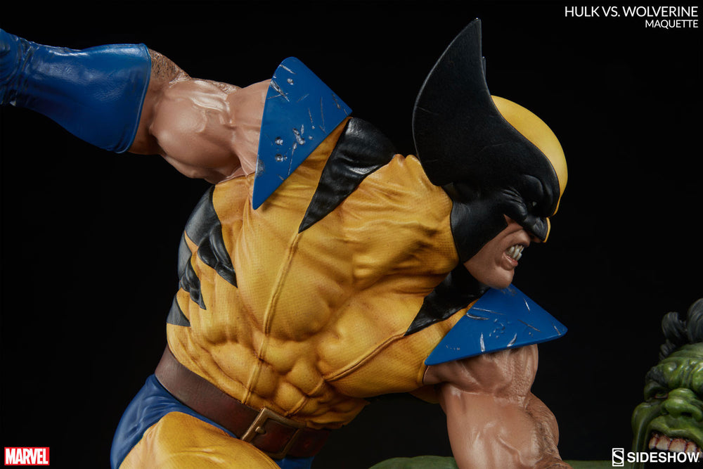Sideshow Collectibles Marvel Hulk vs. Wolverine  Maquette Statue - Movie Figures - 12