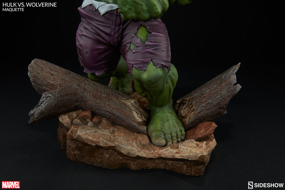 Sideshow Collectibles Marvel Hulk vs. Wolverine  Maquette Statue - Movie Figures - 14