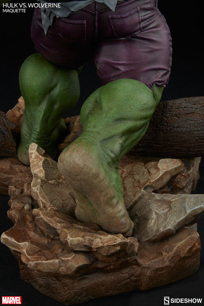 Sideshow Collectibles Marvel Hulk vs. Wolverine  Maquette Statue - Movie Figures - 15