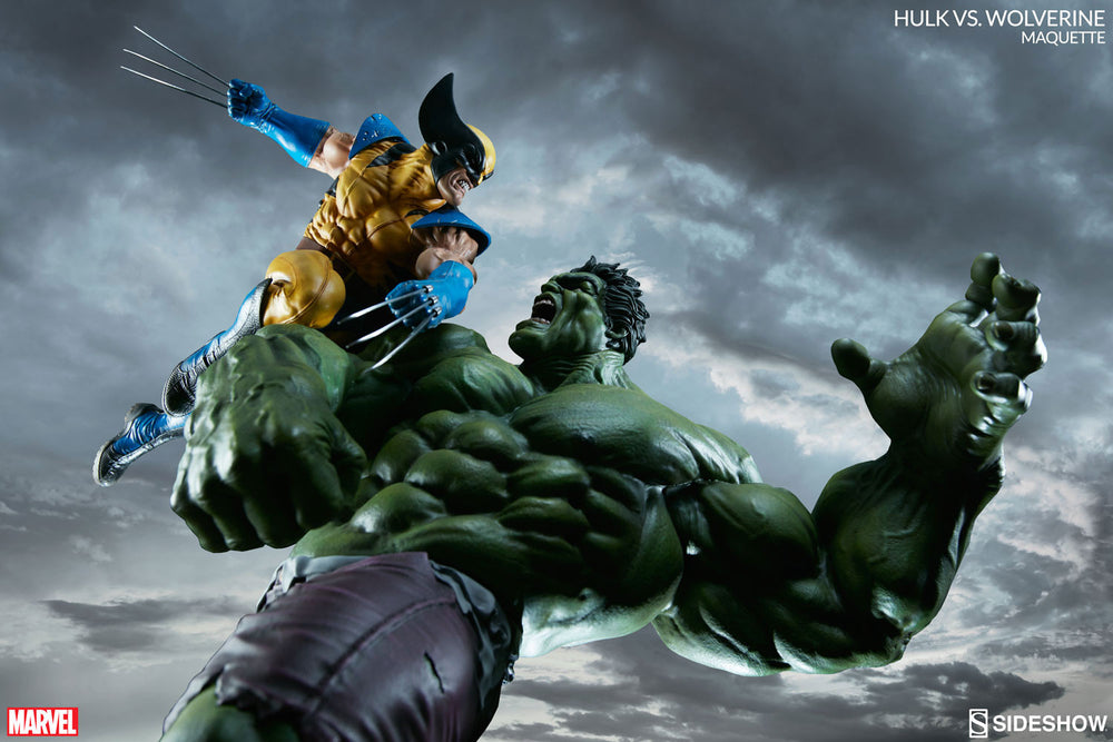 Sideshow Collectibles Marvel Hulk vs. Wolverine  Maquette Statue - Movie Figures - 16