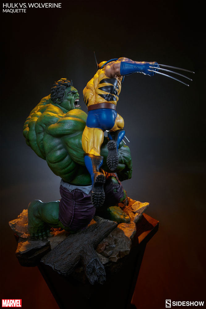 Sideshow Collectibles Marvel Hulk vs. Wolverine  Maquette Statue - Movie Figures - 17