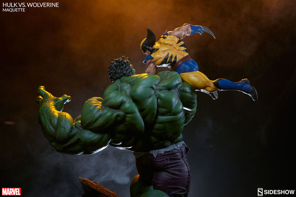 Sideshow Collectibles Marvel Hulk vs. Wolverine  Maquette Statue - Movie Figures - 18