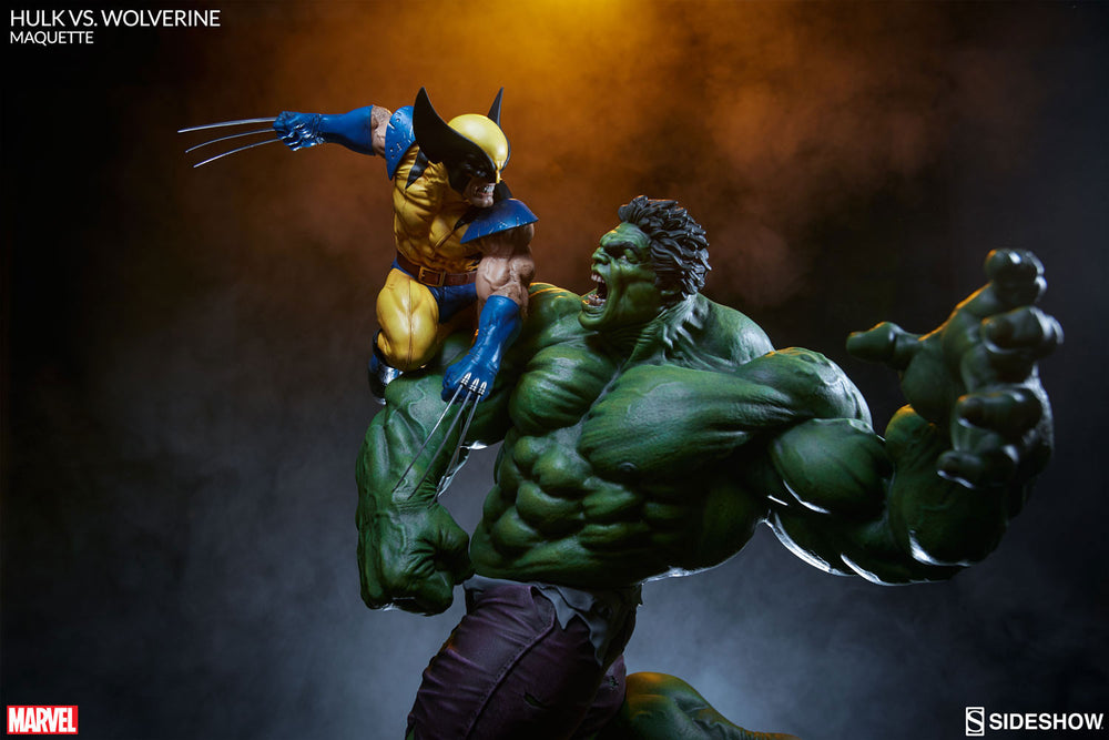 Sideshow Collectibles Marvel Hulk vs. Wolverine  Maquette Statue - Movie Figures - 19