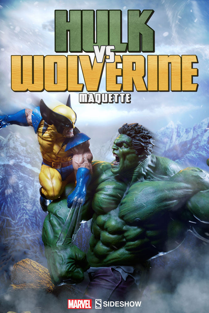 Sideshow Collectibles Marvel Hulk vs. Wolverine  Maquette Statue - Movie Figures - 2