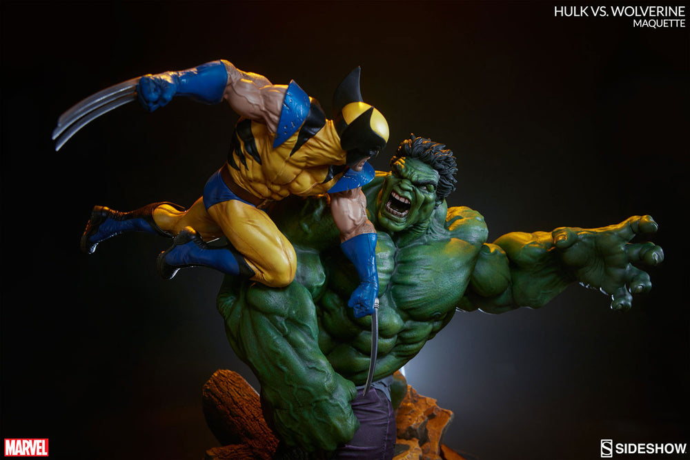 Sideshow Collectibles Marvel Hulk vs. Wolverine  Maquette Statue - Movie Figures - 4