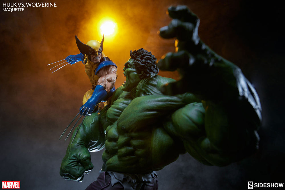 Sideshow Collectibles Marvel Hulk vs. Wolverine  Maquette Statue - Movie Figures - 5