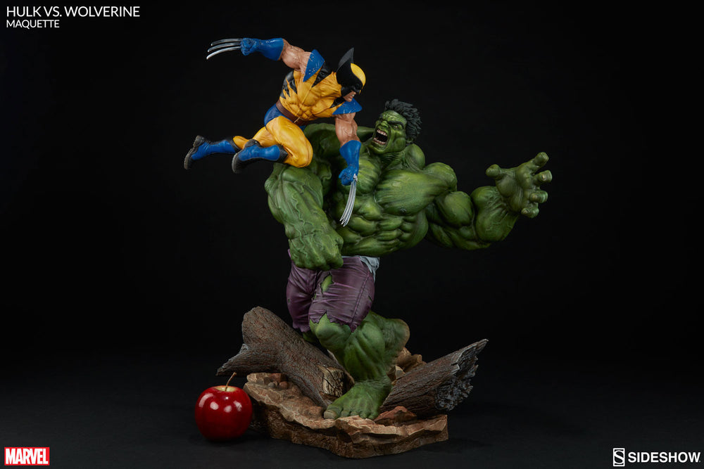 Sideshow Collectibles Marvel Hulk vs. Wolverine  Maquette Statue - Movie Figures - 6
