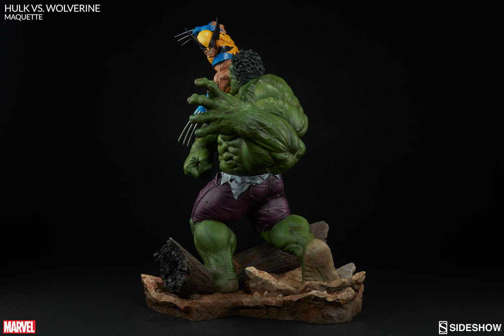 Sideshow Collectibles Marvel Hulk vs. Wolverine  Maquette Statue - Movie Figures - 7