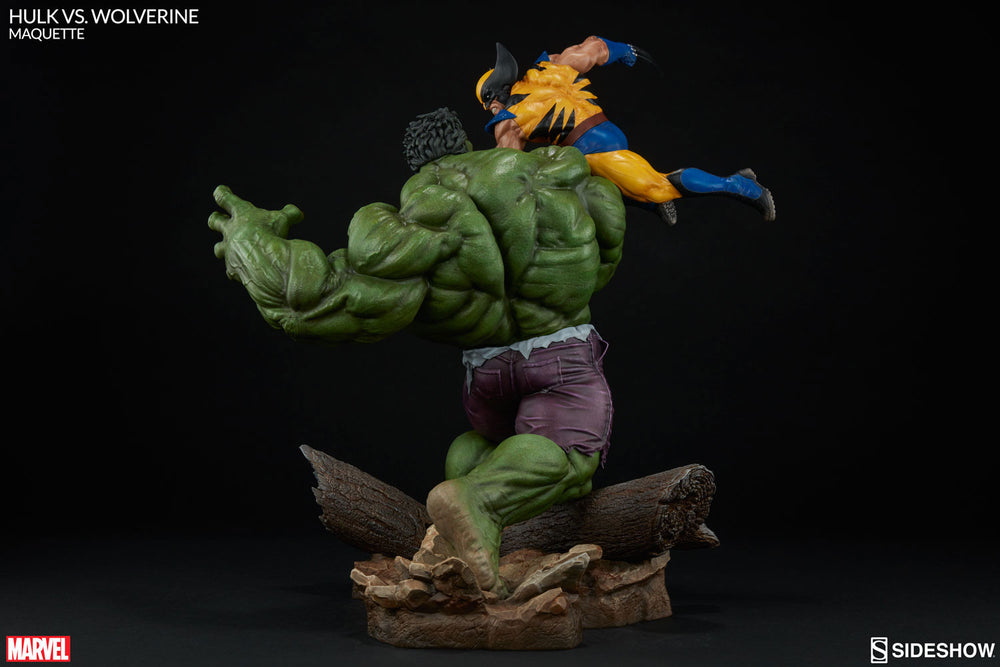 Sideshow Collectibles Marvel Hulk vs. Wolverine  Maquette Statue - Movie Figures - 8